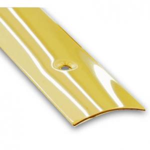 Barre de seuil à visser plaqué laiton CQFD - l 30 mm L 0.73 m