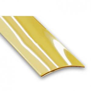 Barre de seuil adhésive plaqué laiton CQFD - l 30 mm L 0.73 m