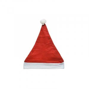 Bonnet père noël - Rouge/blanc - 100% polyester -29x40 cm