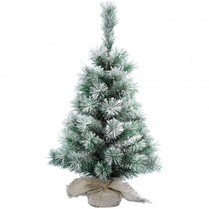 Sapin vancouver - Mini enneigé - 39 branches - Vert - Ø 26 cm - 45 cm