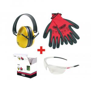 Kit de protection tonte & débroussaillage - Oregon - protèges-oreilles, lunettes & gants