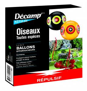 Ballons effaroucheurs d'oiseaux Décamp' Répulsif CREA - Lot de 2