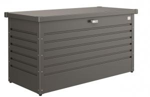 Coffre de jardin gris argent - Biohort - métallique - 134 x 62 x 71 cm