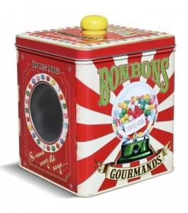 Boîte à Bonbons gourmands - Natives - Métal - 13 x 13 x 15 cm