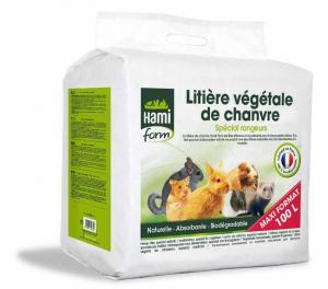 Litière végétale de chanvre - Hami Form - Compacte - 100 L