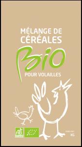 Alimentation basse-cour - Mélange céréales BIO - Volaille - 8 kg