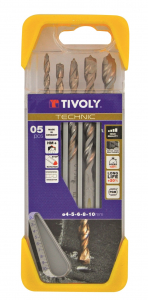 Coffret 5 forets à béton Technic - Tivoly - Ø 4 à 10 mm