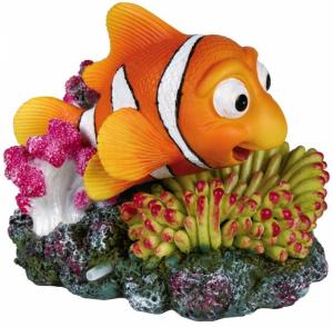 Décor poisson clown + corail avec sortie d'air - Trixie - 12 cm