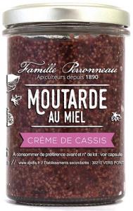 Moutarde au miel crème de cassis - Famille Perronneau - 210 gr