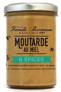 Moutarde au miel et épices - Famille Perronneau - 210 gr