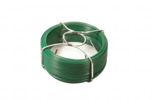 Bobinot de fil d'attache vert en acier galvanisé et plastifié FILIAC -  Ø 1.15 mm L 50 m