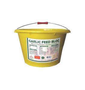 Aliment complément cheval Equifeed Garlic Feed Bloc - Seau à lécher de 20 kg