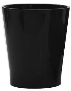 Cache pot en céramique - Horticash - noir - Ø 12,5 cm