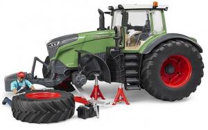 Tracteur Fendt 1050 Vario + mécanicien + accessoires dépannage - Siku - 116