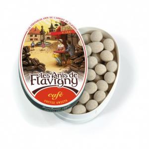 Les anis de Flavigny - Café - Boite ovale - 50 g