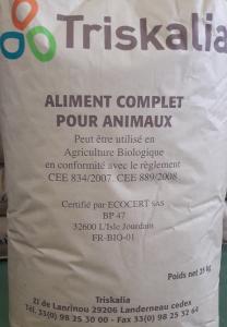 Aliment complet BIO - Poulet/poulette démarrage - 25 kg