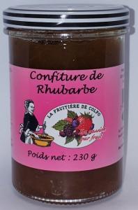 Confiture de rhubarbe - La Ferme Fruitière de Colpo - 230 gr