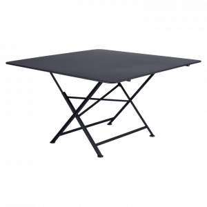 Table pliante Cargo - Fermob - 128 x 128 cm - Carbone