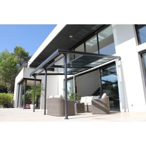 Tonnelle Azura adossé en aluminium - Couleurs du Monde - 3,5x4 m