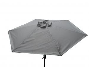 Parasol rond - Pratik -  250 cm - Gris Alu
