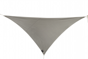 Voile d'ombrage - Triangulaire - Gris Alu - 2.8 x 2.8 x 4