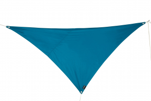 Voile d'ombrage triangulaire - Pétrole - 2.8 x 2.8 x 4 m