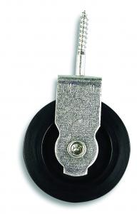 Poulie à visser - Acier zingué - 20 kg - Diamètre galet 40 mm