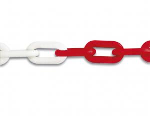 Chaîne de signalisation - Ø 8 mm - Rouge et blanc - Vente au mètre linéaire