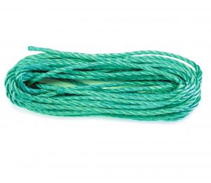 Corde polypropylène torsadée - Ø 8 mm - Longueur 25 m - Vert