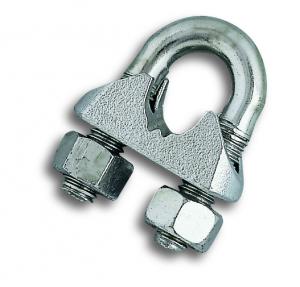 Serre-câble étrier - Acier zingué - Pour câble Ø 6 mm