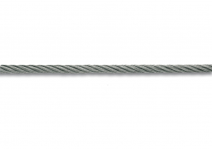 Câble gainé PVC - Acier galvanisé - 89 kg - Ø 3-4 mm - Vente au mètre linéaire