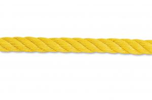 Corde polypropylène torsadée - 1060 Kg - Ø 8 mm - Jaune - Vente au mètre linéaire