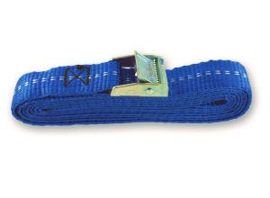 Sangle polypropylène avec came à griffes - Longueur 2,5 m - Largeur 25 mm - Bleu