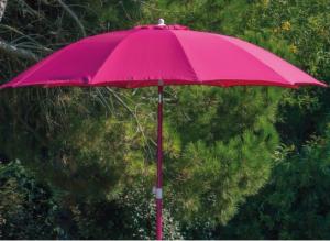 Parasol - Fibre de verre - Alu - Framboise - Ø 270 cm