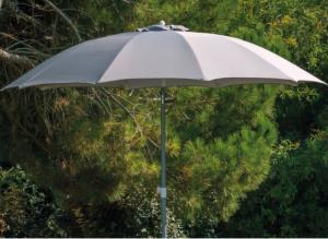 Parasol - Fibre de verre - Alu - Perle - Ø 270 cm