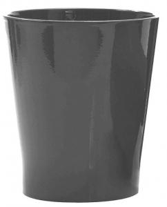 Cache pot en céramique - Horticash Fourn - anthracite - Ø12,5 cm