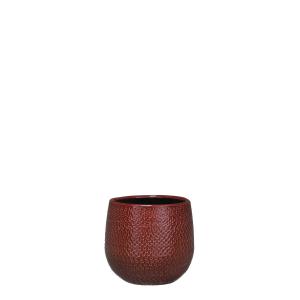 Pot rond Gabriel - Bordeaux - Ø14cm