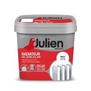 Peinture pour radiateurs - Peintures Julien - Brillant - Blanc - 0.75 L