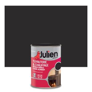Peinture pour tuyauterie et chauffage Peintures Julien - Mat - Noir - 0.25 L
