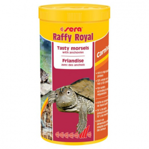 Raffy Royal nature - Sera - Pour tortues aquatiques, grands reptiles carnivoreset amphibiens - Flacon de 1L