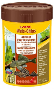 Aliment pour les silures Wels-chips - Sera - 38 gr