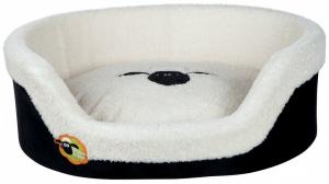 Panier Shaun le mouton - 70 x 55 cm - Noir et crème