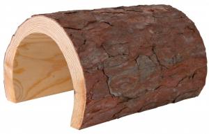 Tunnel en bois pour reptiles - 22 x 15 x 25 cm