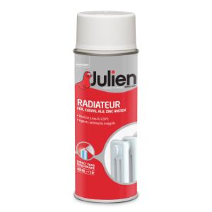 Aérosol peinture pour radiateur - Peintures Julien - Blanc Brillant - 400 ml