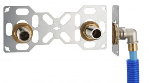 Platine double FIXSYSTEM - PER à glissement - Mâle 20 x 27 - Ø 16 mm