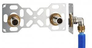 Platine double FIXSYSTEM - PER compression - Mâle 20 x 27 - Ø 16 mm