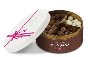 Boîte assortiment de gourmandises au chocolat - Monbana - 360 gr