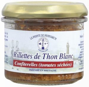 Rillettes de thon blanc confiterelles - La Pointe de Penmarc'h - tomates séchées - 100 gr