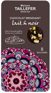 Bouchées mendiant au chocolat au lait & noir - Maison Taillefer - 75 gr - x8