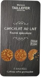 Bouchées chocolat au lait cœur spéculoos - Maison Taillefer - 75 gr - x8